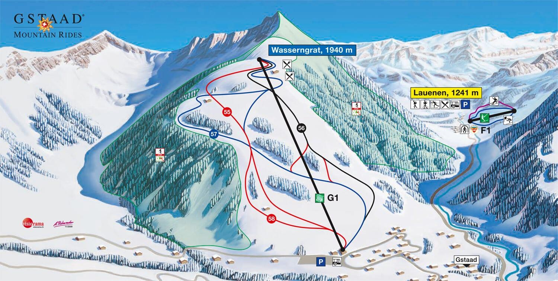 Lauenen Ski Map