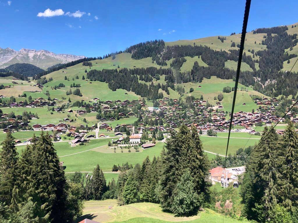 Rougemont Village from Videmanette Ski Lift